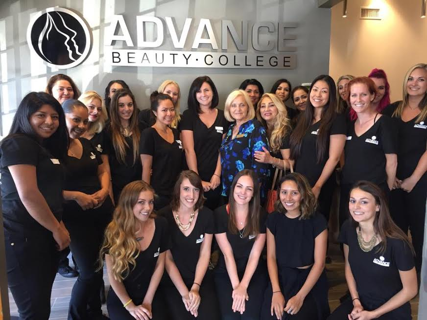 Advance Beauty College Cosmo students