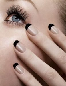black french tip manicure
